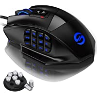 UtechSmart Venus Gaming Mouse RGB Wired, 16400 DPI High Precision Laser Programmable MMO Computer Gaming Mice [IGN's…