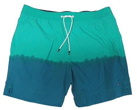 fe287e7db2 Tommy Hilfiger Men's Two Tone Fade Swim Trunks Blue/Green, XXL ...