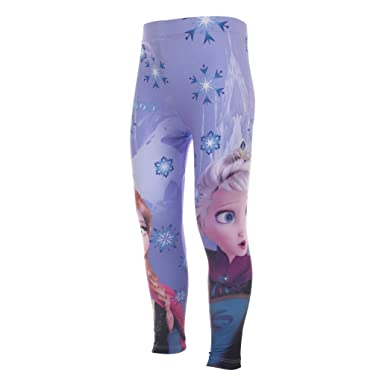 162ed397bae7d Disney Frozen Girls Elsa & Anna Snowflake Leggings: Amazon.co.uk ...