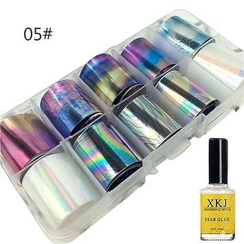 HKFV - Juego de maquillaje decorativo para unas uñas encantadoras, decoración de uñas y pegamento especial Star ...