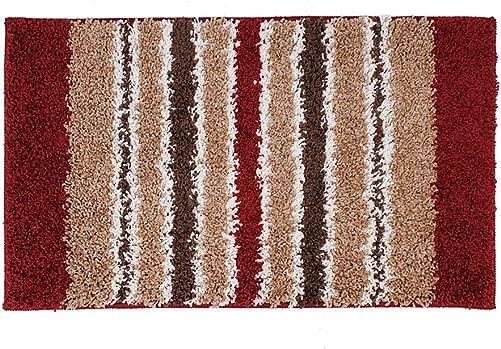 YK Decor Striped Door Mat Inside Non Slip Entrance Floor Mat for Front Door Entry Debris Mud Trapper Rug Mat, 27×45 Home Decor Living Room Bedroom Indoor Washable Carpet