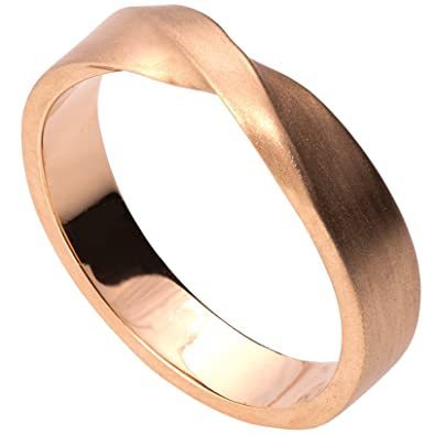 Amazoncom Solid Gold Mobius Wedding Band Set His and Hers Twisted