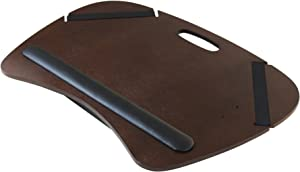 """Winsome Wood Kane Lap Desk with Cushion and Metal Rod, 22.76"""" W x 5"""" H x 15.75"""" D, Walnut Effect (94021)"""
