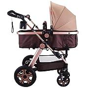 VEVOR Foldable Anti-Shock Newborn Stroller, Golden
