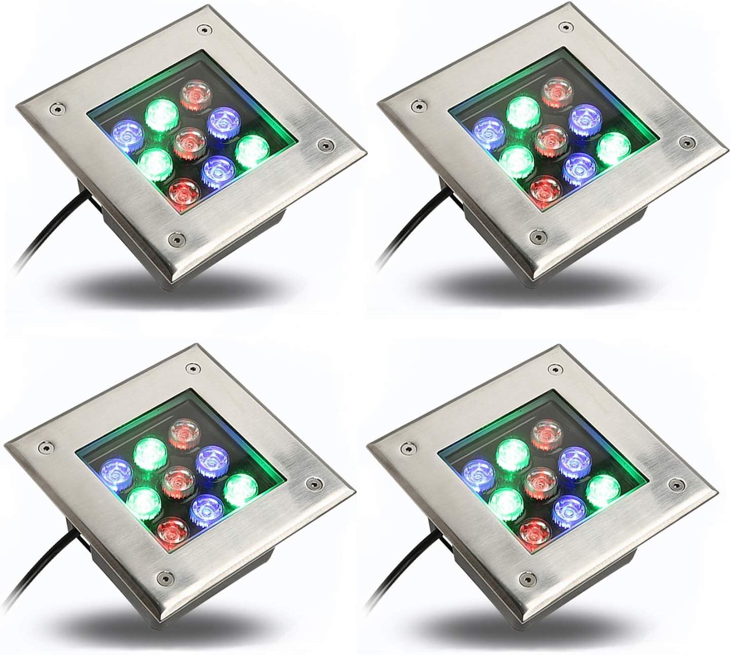 AMDHZ Foco Empotrable de Suelo LED Focos Exterior Led IP65 A Prueba De Polvo AC220V Rectángulo Spotlight Embedded Césped Patio Decoración (Color : B, Size : 16W)