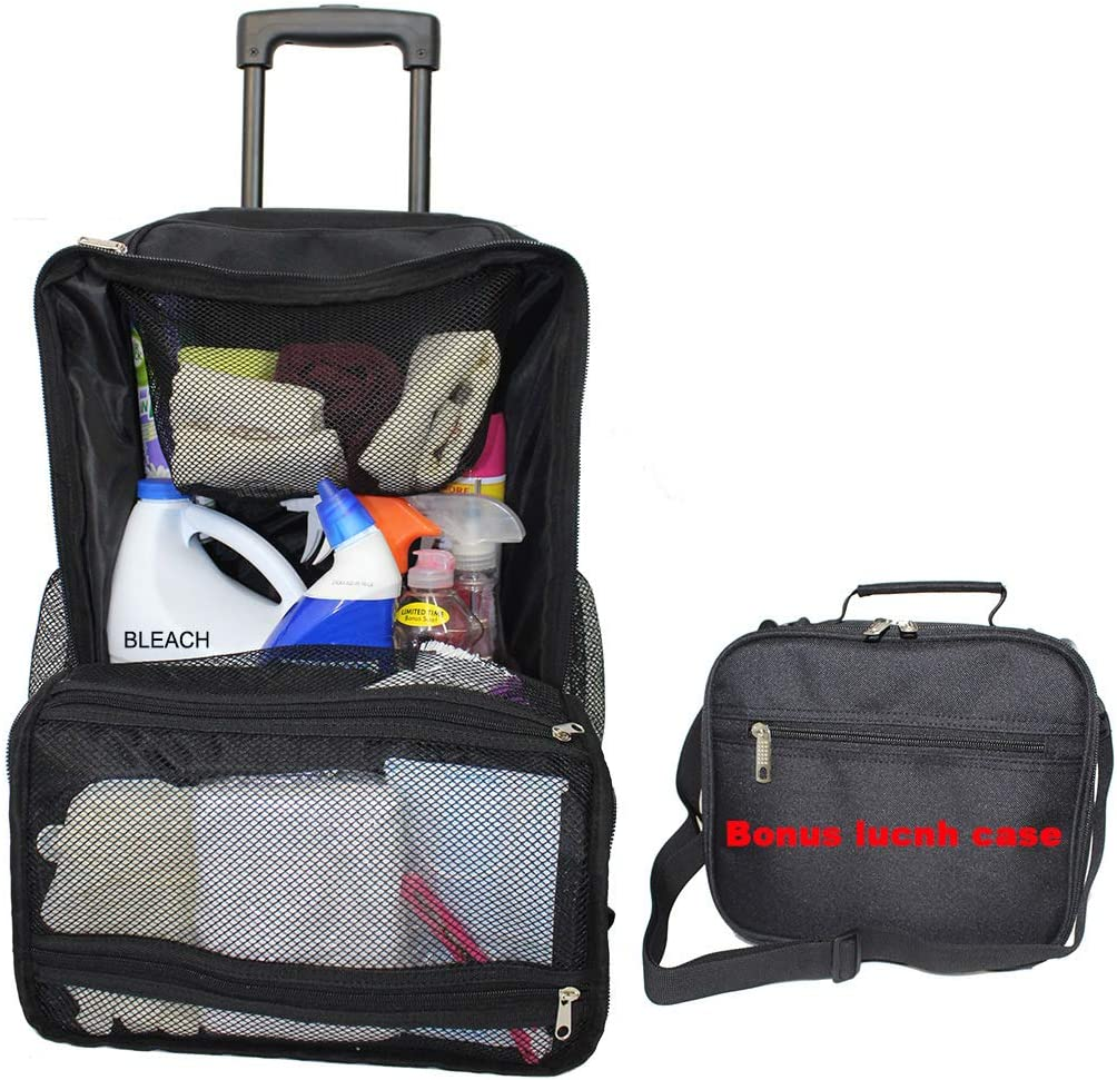 Housekeeper s Rolling Cleaning-Tool Bag Lunch case Heavy Duty