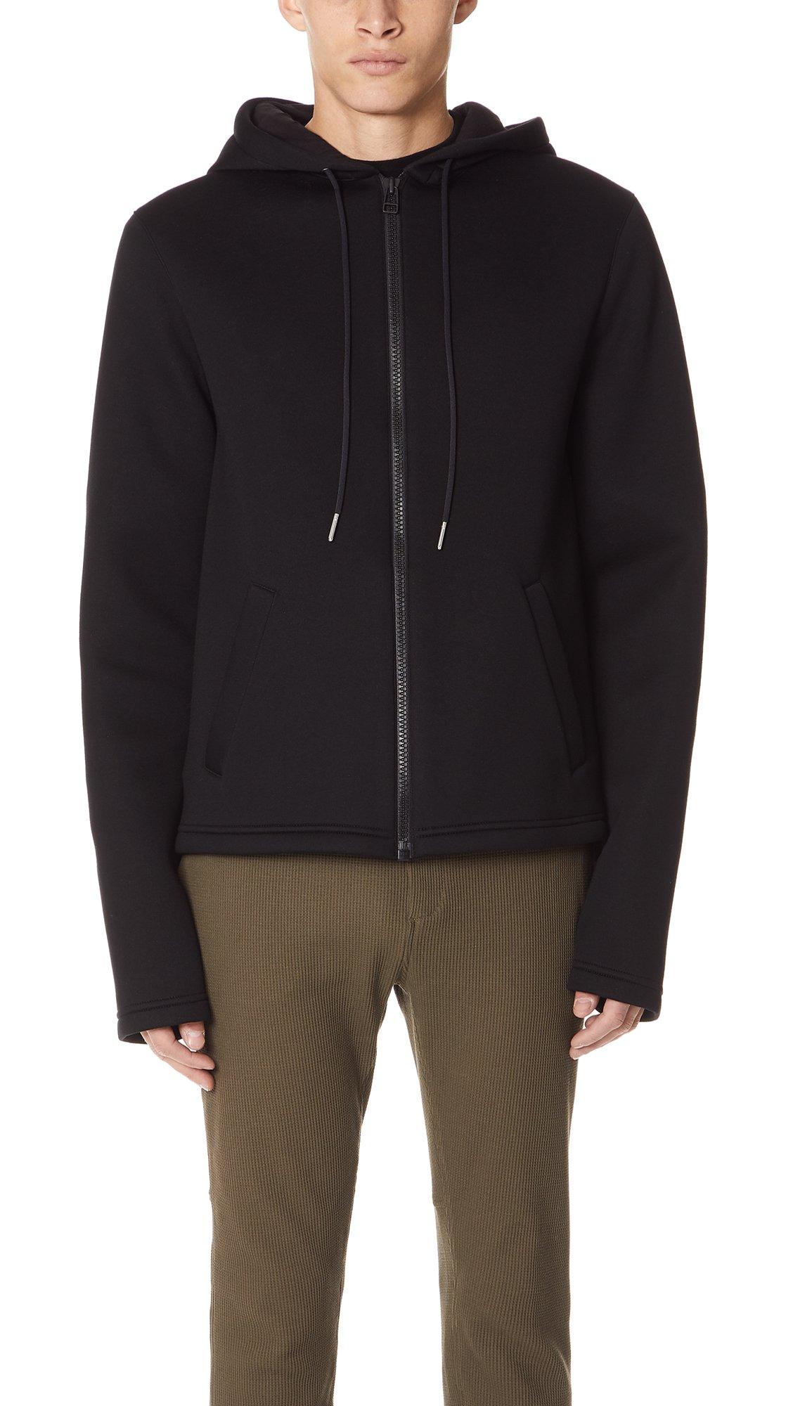 Helmut Lang Men's Zip Hoodie, Black, Large