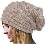 Bonnets Femmes Hiver, POachers Crochet Chapeau Femme Chauds La Laine  Tricoter Beanie Chapeaux Bérets e85c03a9f07