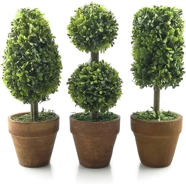 Amazon Com Tuokor Small Artificial Plants 8 25 Tall Plastic