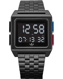 Adidas Herren Digital Uhr mit Edelstahl Armband Z01 2924 00
