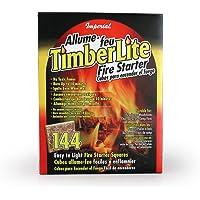 Imperial Manufacturing timberlite iniciador de fuego, 144 Squares, Rojo