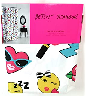 Amazon com: Betsey Johnson Paris Love EIffel Tower Fabric Shower