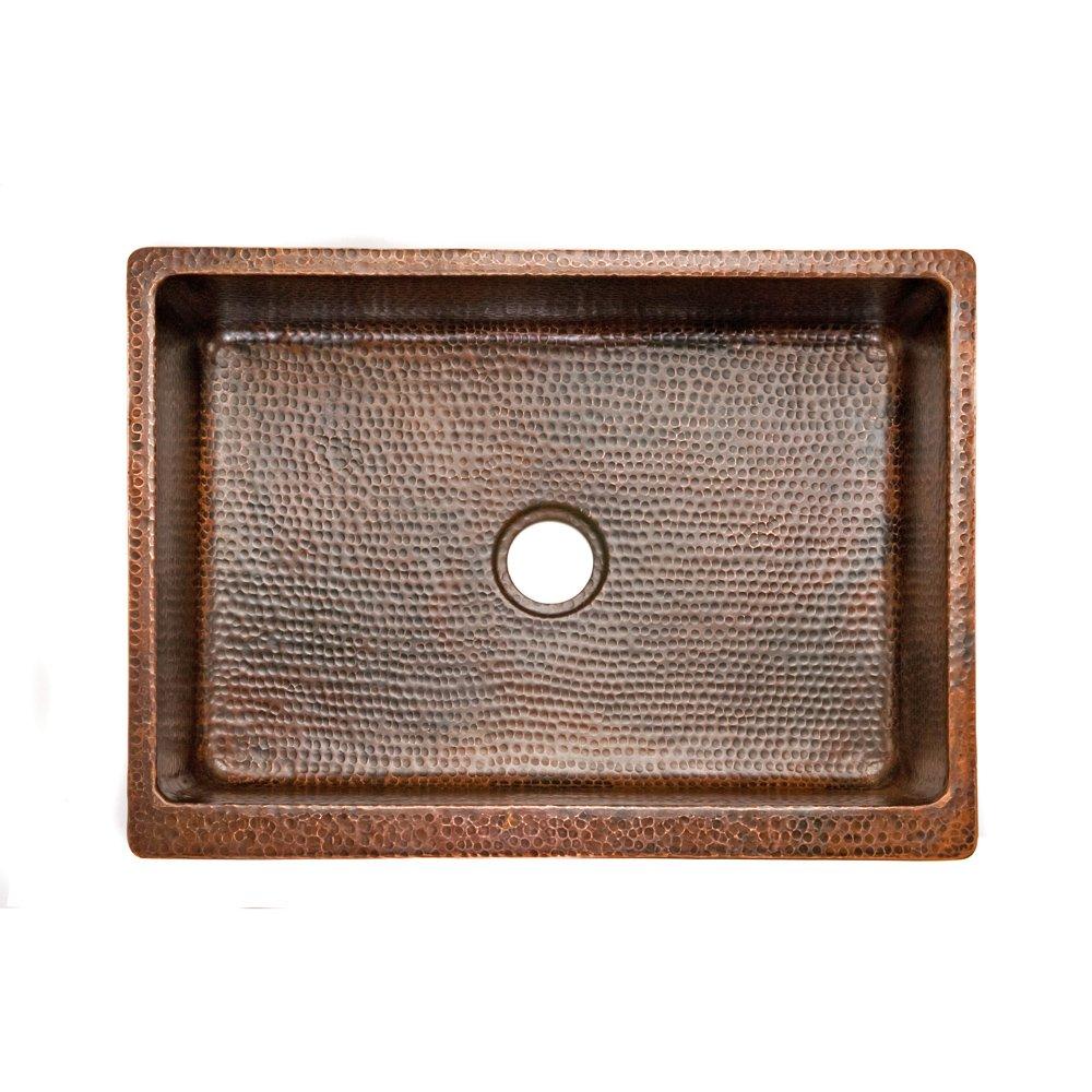 Premier Copper Products KASDB30229 30-Inch Copper Hammered Kitchen ...