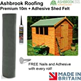 Premium 10m Shed Felt - Green (Free Nails and Adhesive)