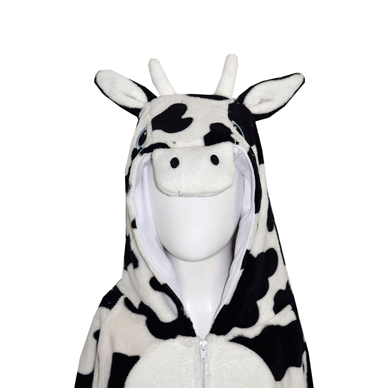 Cow A2Z 4 Kids/® Kids Girls Boys Onesie Extra Soft Fluffy Zebra All in One 13-14 Years