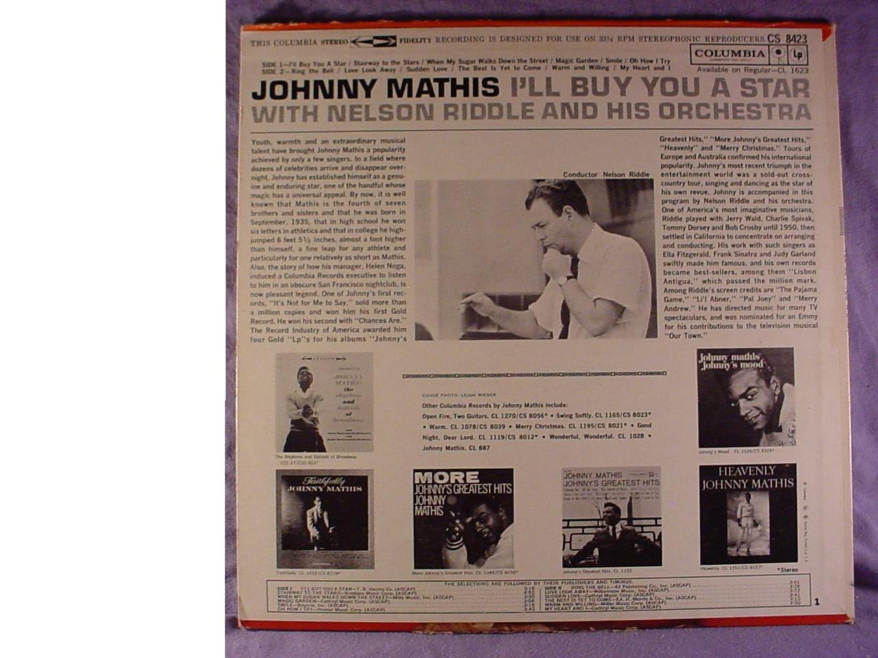 Johnny Mathis, Nelson Riddle And His Orchestra - I\'ll Buy You A Star ...