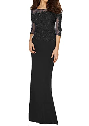 Jdress Womens Applique Sequins Long Mermaid Prom Party Evening Dress