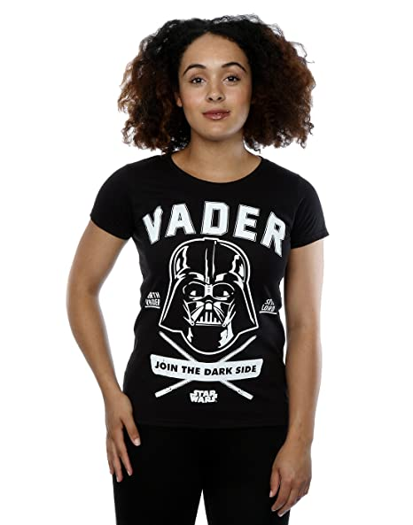 Star Wars Womens Darth Vader Collegiate T-Shirt X-Small Black