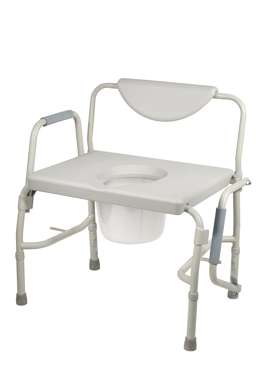 Amazon.com: Drive Medical Deluxe Bariatric Drop-Arm Commode, Grey ...