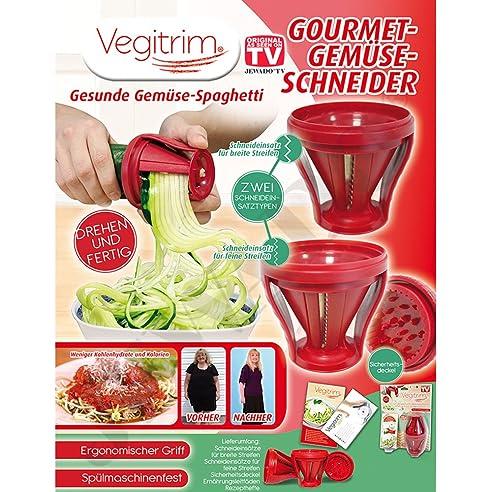 Vegitrim® Gourmet Gemüseschneider   Spiralschneider   Salat Schneider    Original Aus TV Werbung