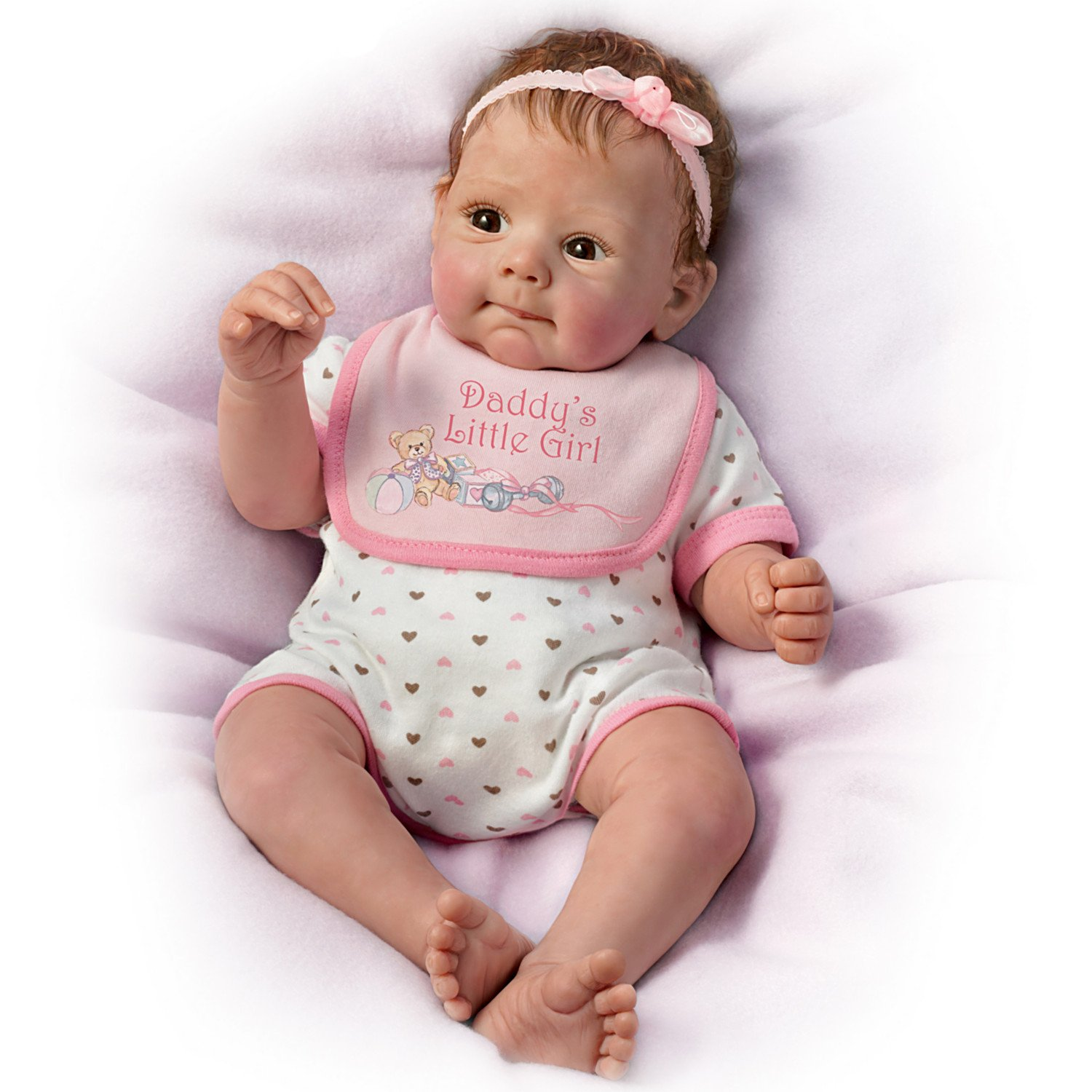 Daddy's Little Girl So Truly Real Lifelike Baby Doll By Sherry Rawn by The Bradford Exchange