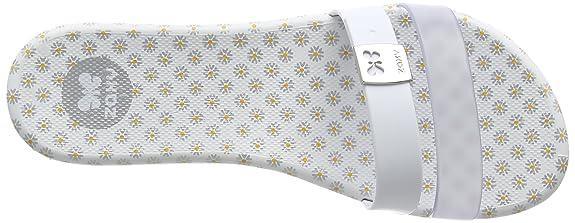Zaxy Like Slide - zuecos de goma mujer, color blanco, talla 41/42