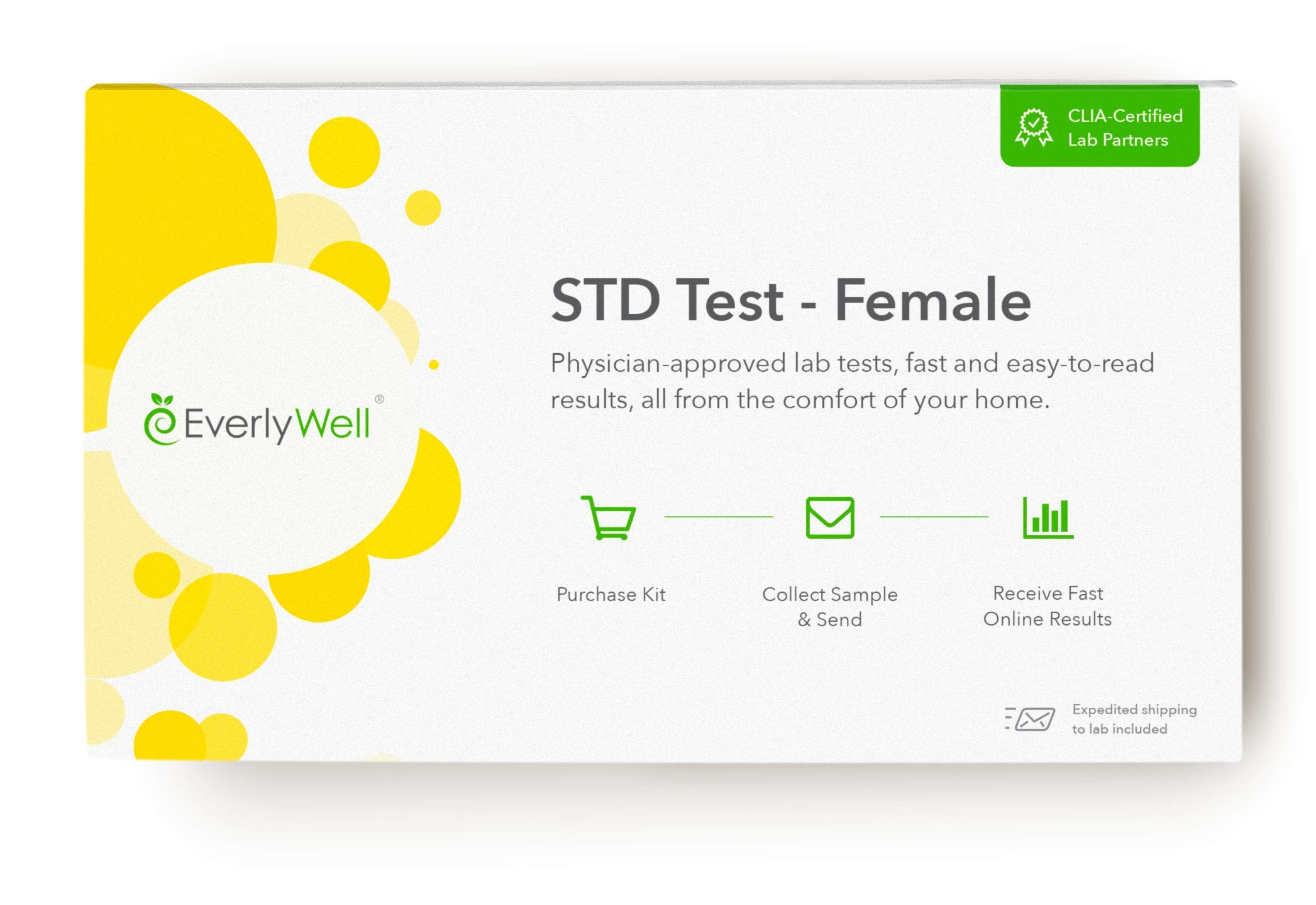 EverlyWell - Female at-Home STD Test - Discreetly Test for 7 Common STDs (Not Available in RI, NJ, NY, and MD) by Everly Well