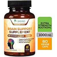 Brain Supplement, High Potency Nootropic 1000mg - Memory Pills to Support Clarity...