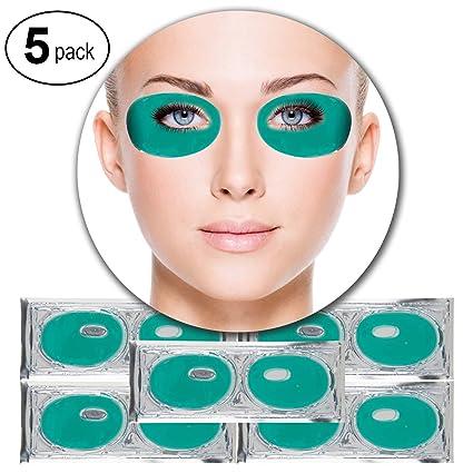 VAGA 5 pares parches de colageno aloe verde antiarrugas para ...
