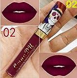 ILOVEDIY Rouge à Lèvres Mat Longue Tenue Liquide Maquillage Waterproof à Lèvres Lip Gloss Matte Metallique (02)