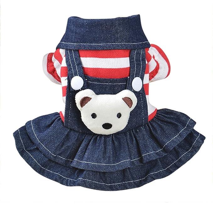 Amazon.com: Lookvv - Vestido para perros pequeños, vaquero ...