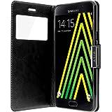 Avizar - Housse Etui Clapet Fenêtre Samsung Galaxy A5 2016 - Noir