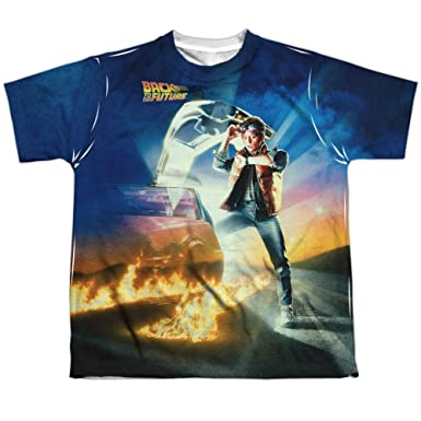 7722ad2bd ExpressBeyond Back to The Future Movie Poster Small T-Shirt White Child  Boy's Girl's Short