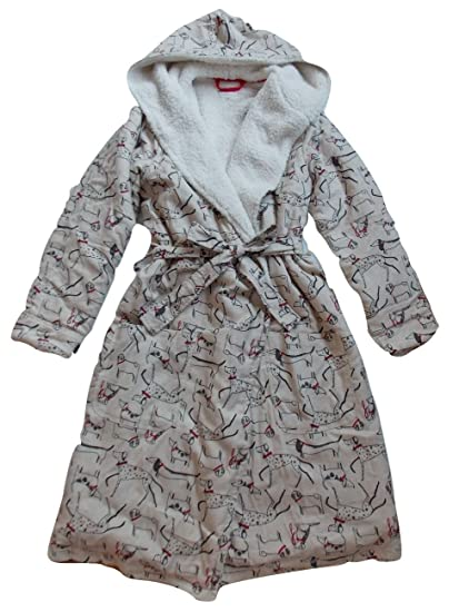 Next Dog Shearling Ladies Dressing Gown Sizes S 8 10 M 12 14 L