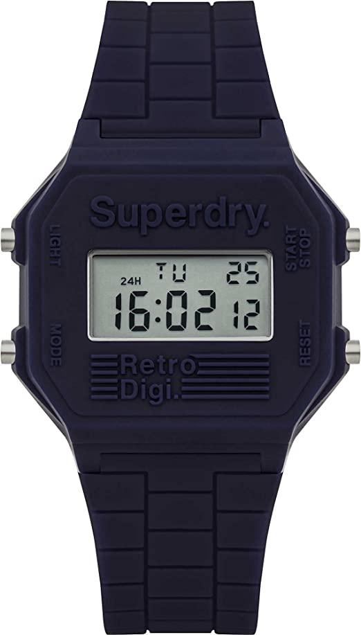 Superdry Reloj Digital para Unisex Adultos de Cuarzo con Correa en Silicona SYG201U