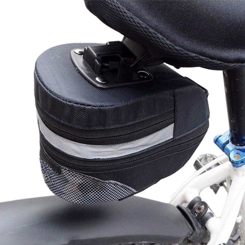 Ezyoutdoor ミニサドルバッグ 自転車シートバッグ サドルバッグ ポーチケース 軽量 ライディングバイクアクセサリー アウトドアスポーツ 75g   B014R29MAK