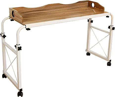 dline – Mesa Carro portátil mesa para portátil, grano oscuro 1,2 m ...
