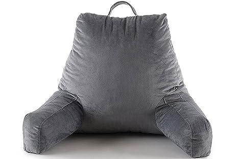 Rojo Nomad triturada de espuma lectura almohada – suave cubierta transpirable, perfecto apoyo, Premium