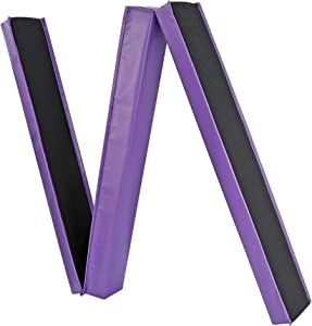 ZENY 9ft Tri-Fold Gymnastic Balance Beam Bar,Foam Low Floor Extra Firm Balance Walking Beams for Home,Anti-Slip Base,Gymnastics Training Equipment for Kids Adults
