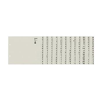 Leitz 13120085 - Separadores A-Z (A4, para 12 archivadores), color gris: Amazon.es: Oficina y papelería