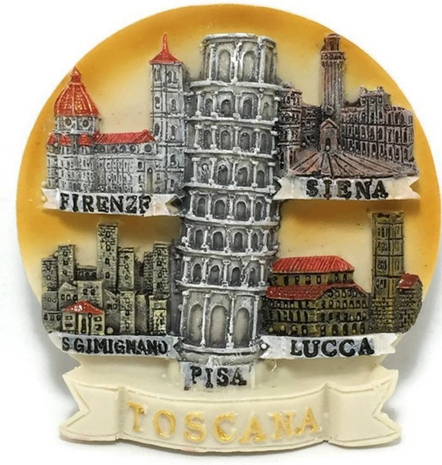 Mr_air_thai_Magnet_World Tuscany Toscana PISA Lucca Firenze Siena Leaning Tower Italy Resin 3D Fridge Magnet Souvenir Tourist Gift FBA