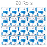 Professional 3-Ply Toilet Paper, Silky Smooth Ultra Soft Professional Series Premium Toilet Paper, Home Kitchen Toilet Tissue, Soft, Strong and Highly Absorbent Hand Towels for Daily Use (20 Rolls)