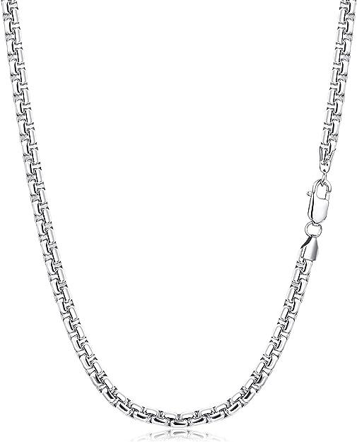 sailimue Acier Inoxydable 6MM Collier pour Homme Gar/çons Coffret Cadeaux Longueur 46-76cm