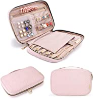 bagsmart Jewelry Organizer Bag Travel Jewelry Storage Cases for Necklace, Earrings, Rings, Bracelet