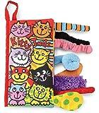 Jellycat Soft Cloth Books, Kitty Tails