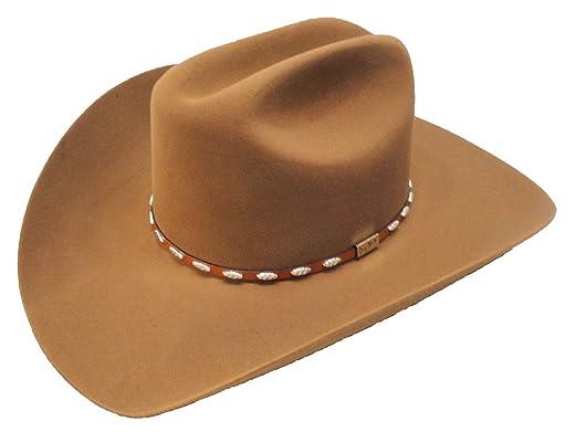 d994fe4bd1d84 Resistol Cowboy Hat 6X Beaver Fur Chestnut Silver Eagle George Strait  6 7 8