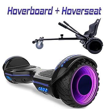 COLORWAY Hover Scooter Board Patinete Eléctrico 700W, con Altavoz Bluetooth y LED, Autoequilibrio de Scooter Eléctrico
