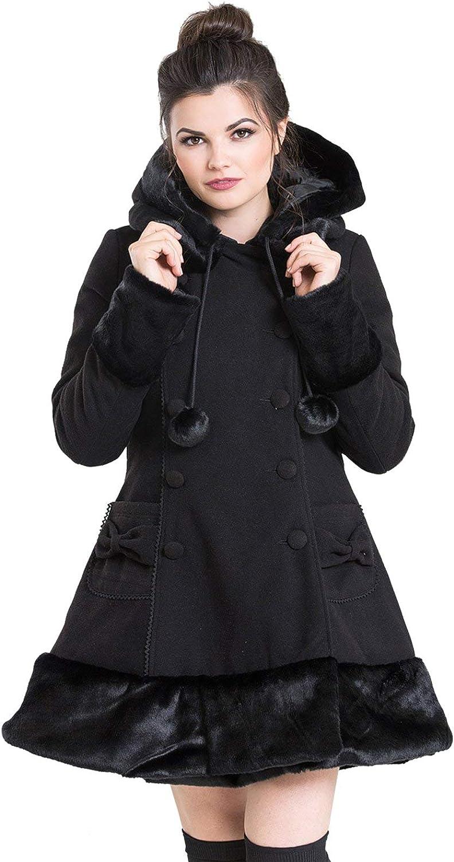 TALLA UK 18 (2XL). Hell Bunny Sarah Jane Coat Abrigo Mujer Rosa