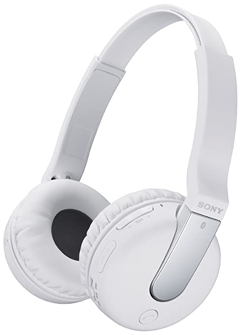 Sony Bluetooth NFC enabled Wireless White Over-head Stereo-Headset DR-BTN200 - Compatible with Smartphones, Tablets and Computer Mobile Phone Bluetooth Headsets at amazon