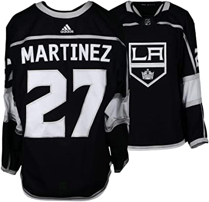 purchase cheap a5835 d77b4 Alec Martinez Los Angeles Kings Game-Used #27 Black Jersey ...